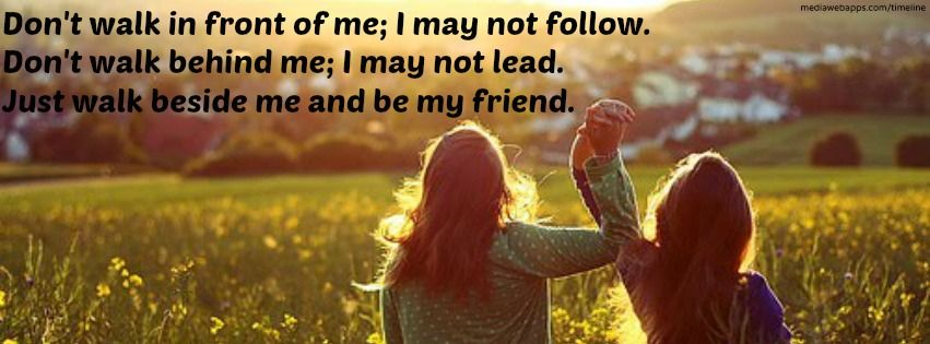 Friendship Quote timeline cover | Timeline cover ...