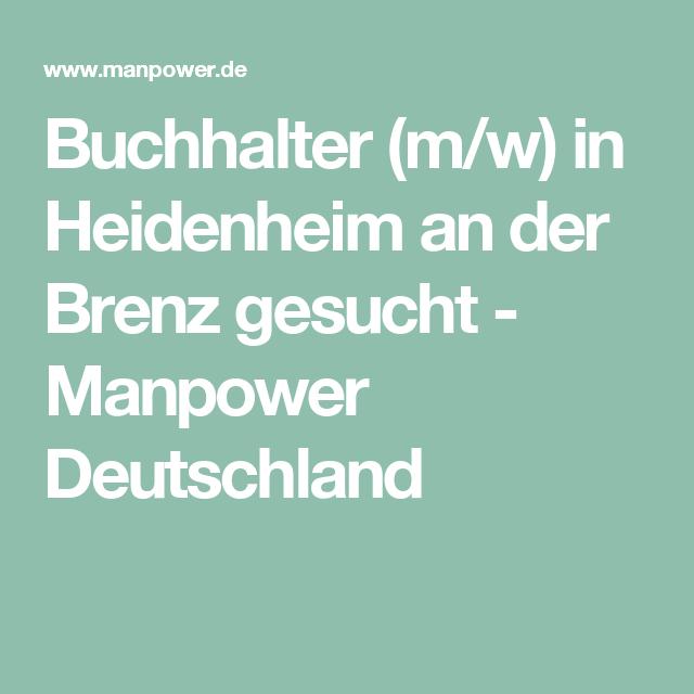 Buchhalter M W In Heidenheim An Der Brenz Gesucht Manpower Deutschland Buchhaltung Personaldienstleister Job