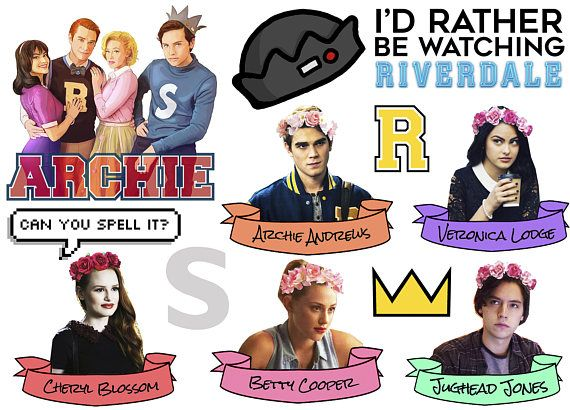 Riverdale Sticker Sheet Bughead Jughead Jones Archie Betty Veronica