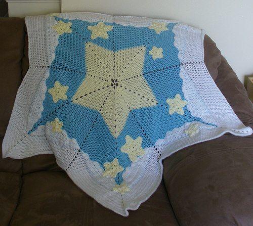 Stars Crochet Blanket Pattern Baby Blankets Pinterest Star