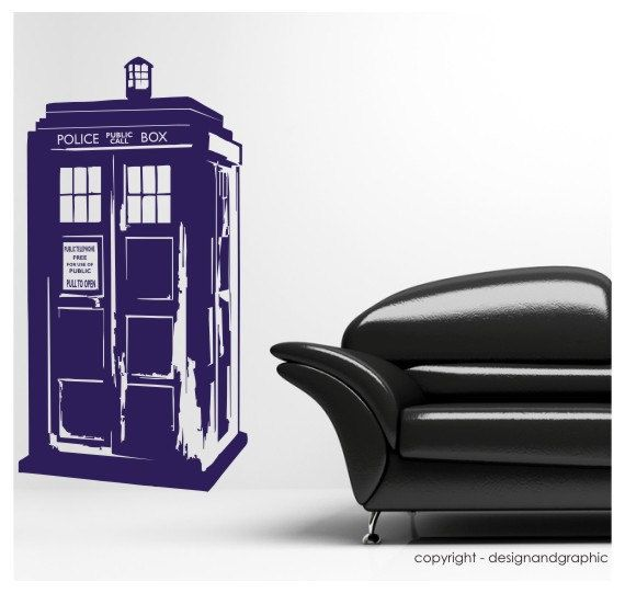Dr Who S Tardis Vinyl Wall Decal Sticker By Circlewallart