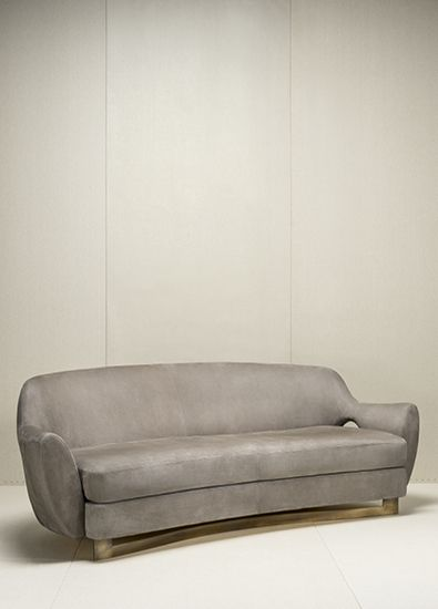 Leather Sofa With Wooden Frame