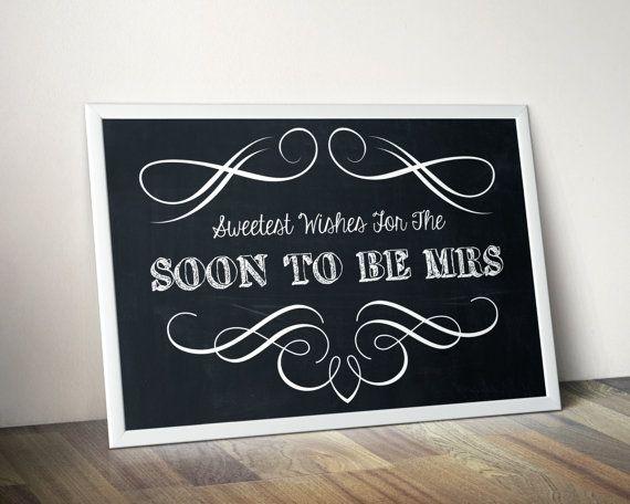 Wedding Bridal Shower Sign Modern by