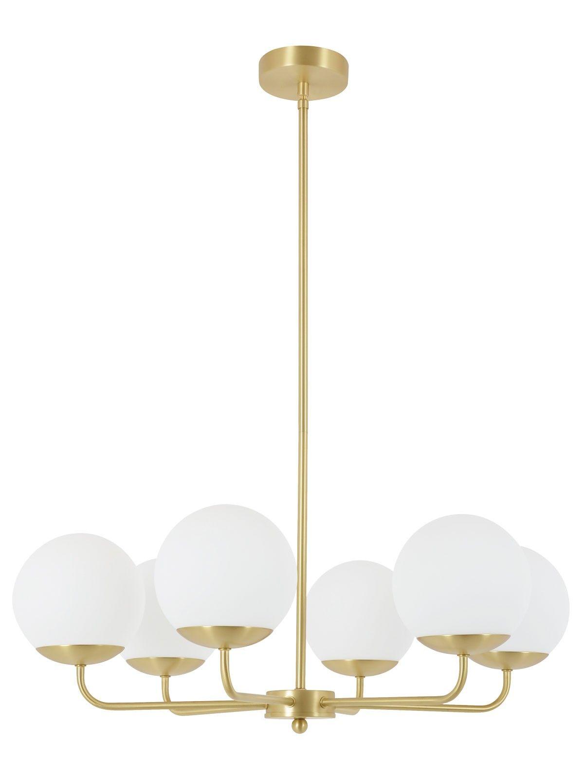 traditional pendant lighting. Quinn 6 Light Pendant In Brass/Opal | Traditional Pendants Lights Lighting
