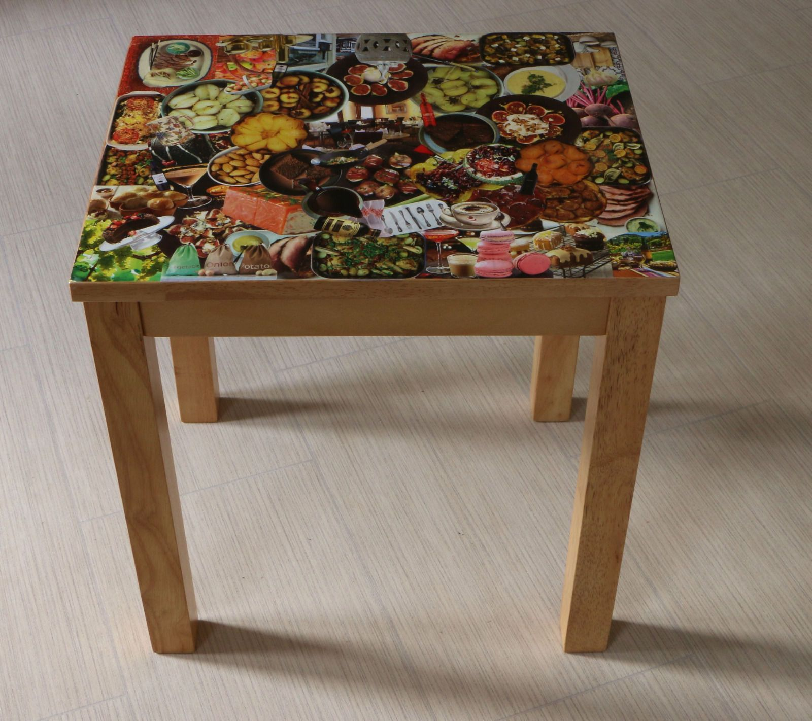 Coffe Table with Original Unique Decoupage Design | eBay