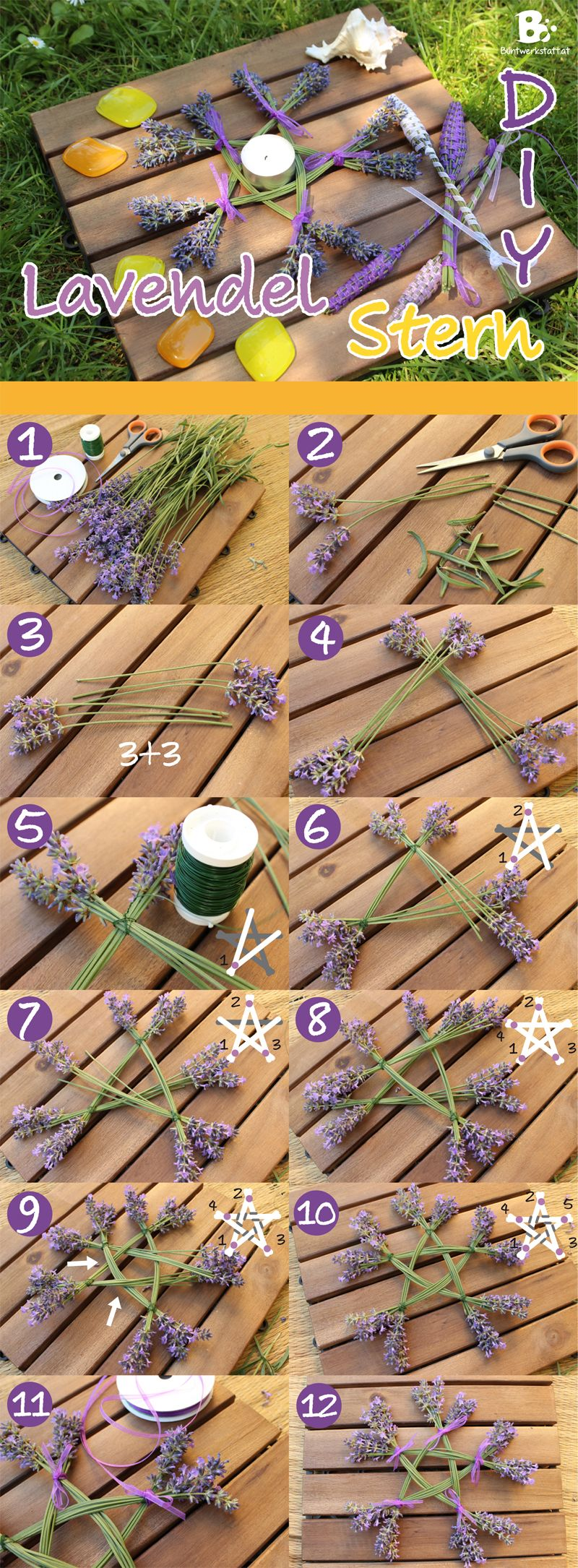 Photo of Lavender Star – How to Make a Lavender Star / Pentagram. Natural crafts DIY / Lav …
