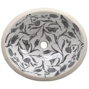 K14218 Bt 0 Briar Rose Undermount Style Bathroom Sink White With Images Bathroom Sink