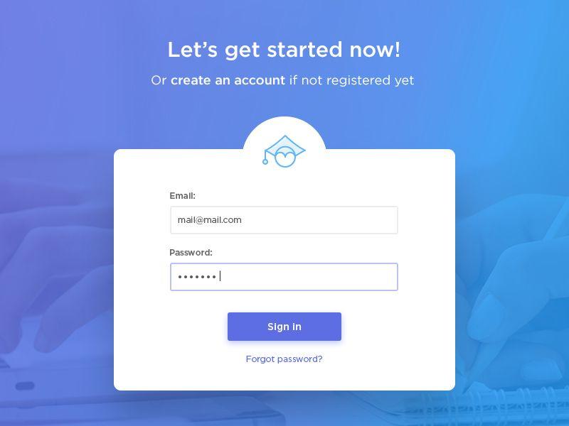 Sign In Screen For A Web App Web App Design Login Design Login Page Design