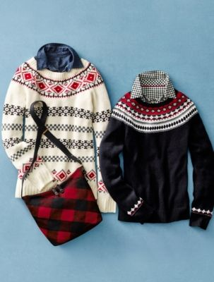 Talbots - Stripe & Diamond Fair Isle Sweater   Sweaters     SJB ...