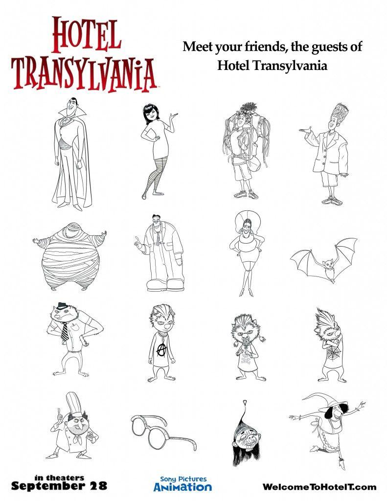 Hotel Transylvania B W Character Cutouts Copy Hotel Transylvania Dracula Hotel Transylvania Hotel Transylvania Characters
