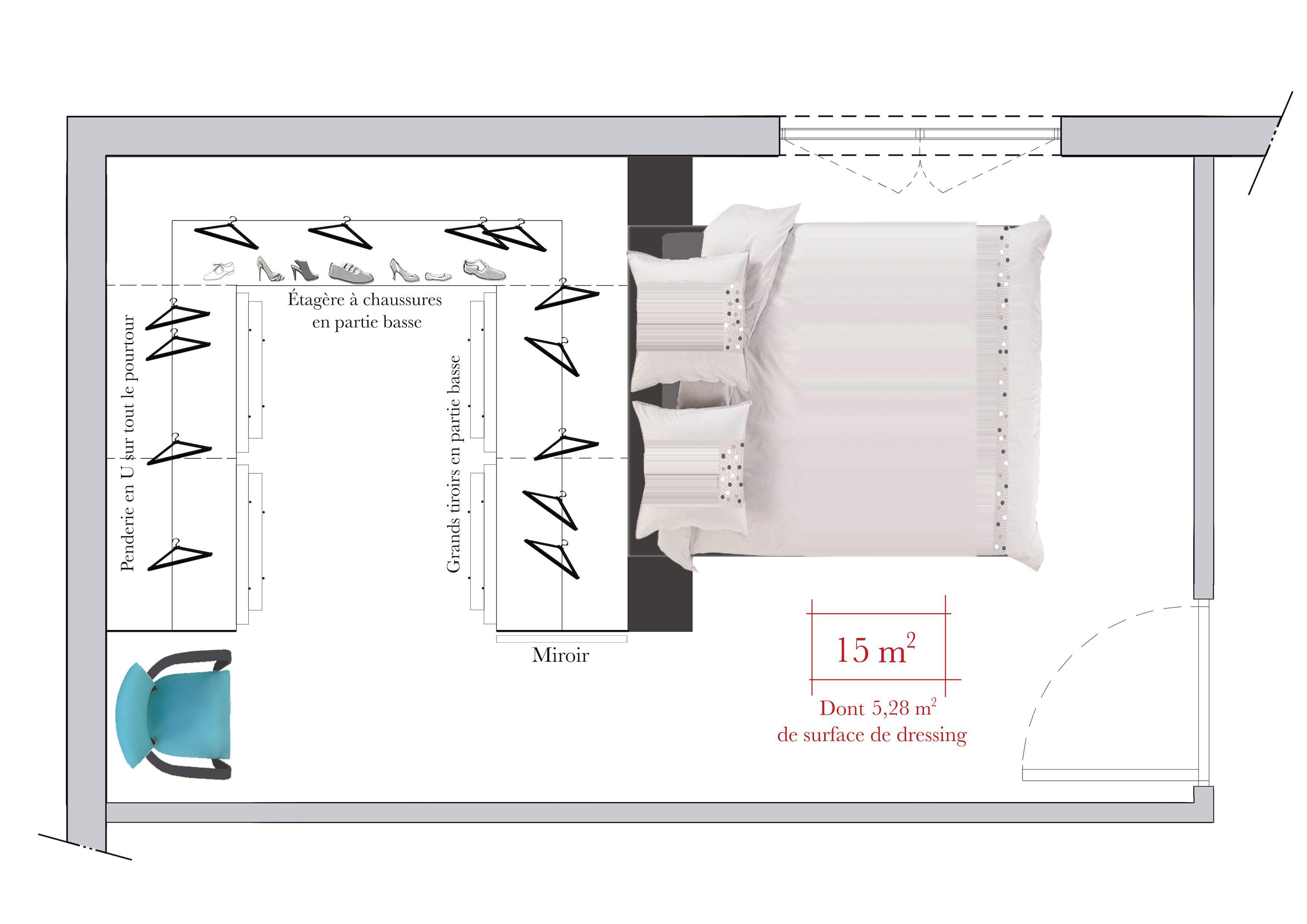 Plan Dressing En U Épinglé sur furniture design