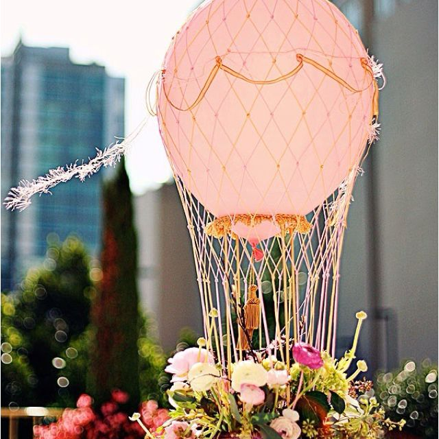 Hot air balloon centerpiece crafts pinterest