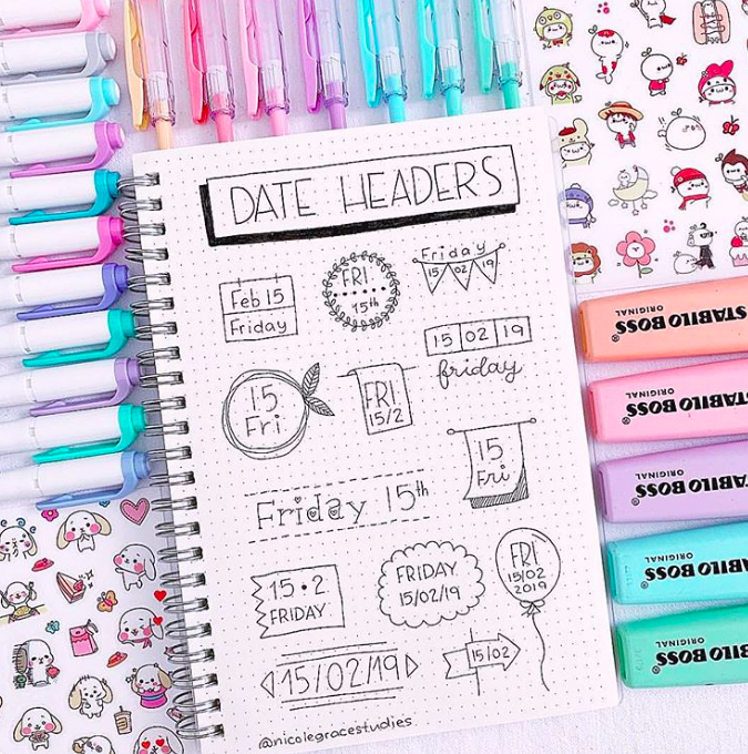 40+ Best Inspiring Bullet Journal Headers & Banner Ideas