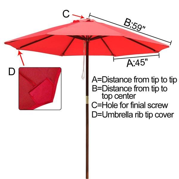 Thediyoutlet 10 Ft Patio And Market Umbrella Replacement Canopy Replacement Canopy Offset Patio Umbrella Market Umbrella