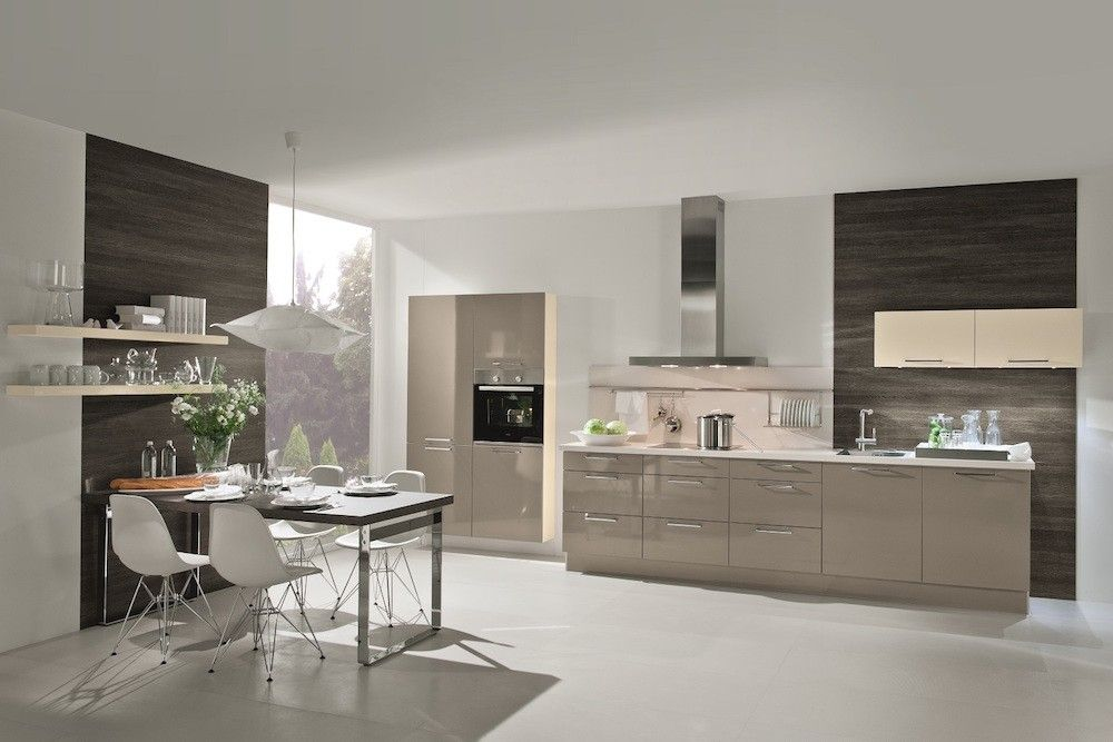 Best Basalt Grey High Gloss Laminate Kitchen Laminate Kitchen 400 x 300