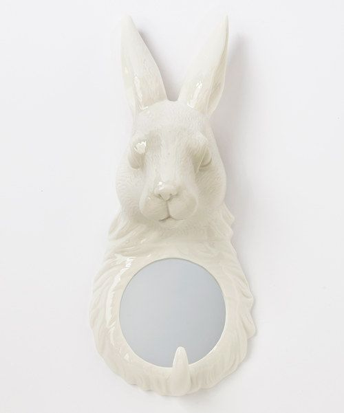 Look at this Rabbit Wall Mirror and Wall Hook on #zulily today!