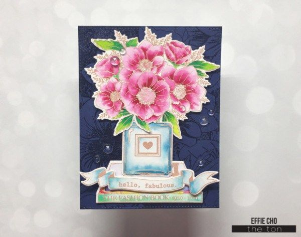 Project: Water Colored Bouquet Card
