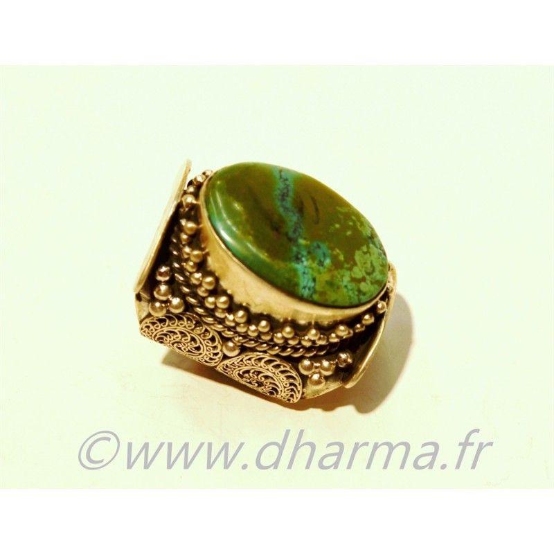 Bague turquoise - Dharma.fr | Découvrez une ambiance indienne authentique