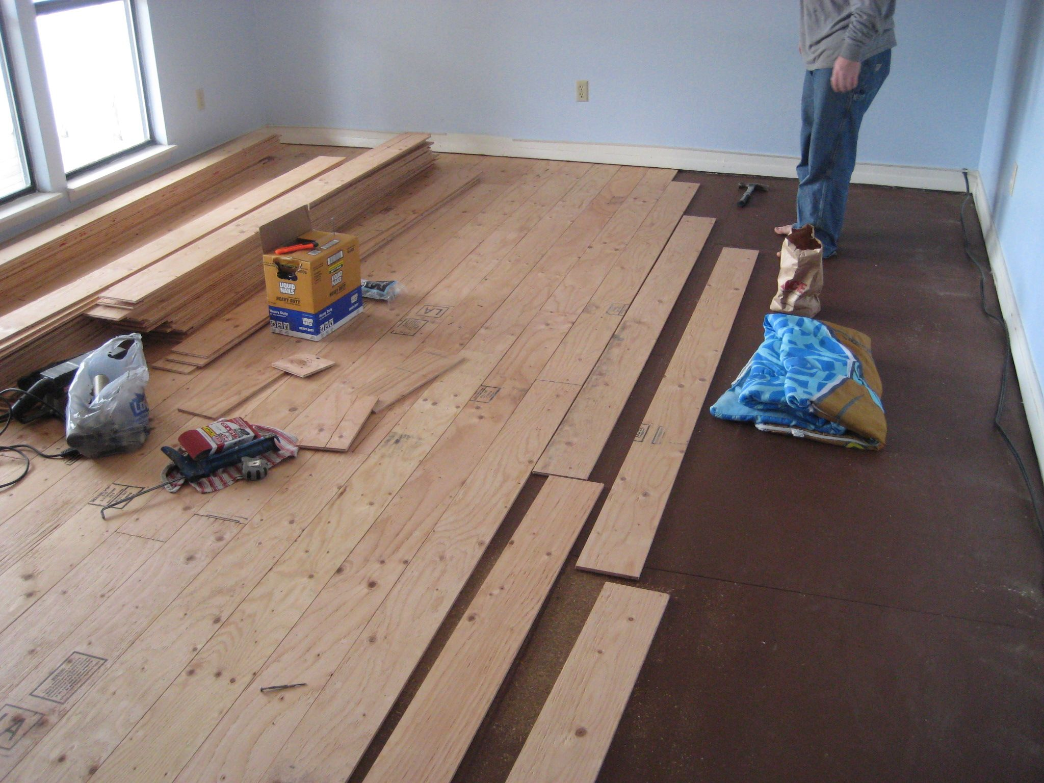 Real Wood Floors Made From Plywood Diy Wood Floors Plywood Flooring Diy Diy Flooring