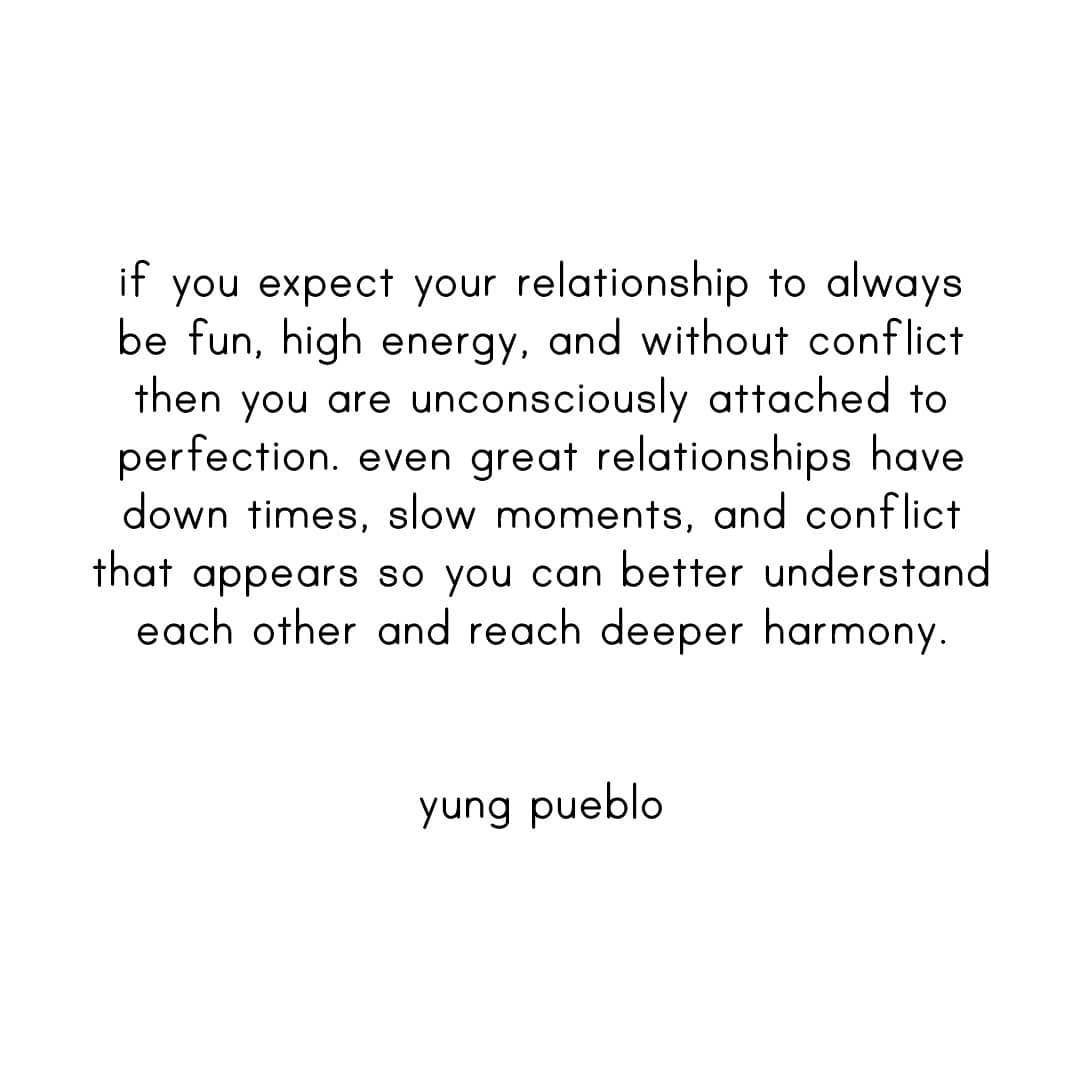 """yung pueblo on Instagram: """"Don't let an attachment to perfection get in the way of your happiness. Sending love to all 🙏🏽🌎 #yungpueblo"""""""