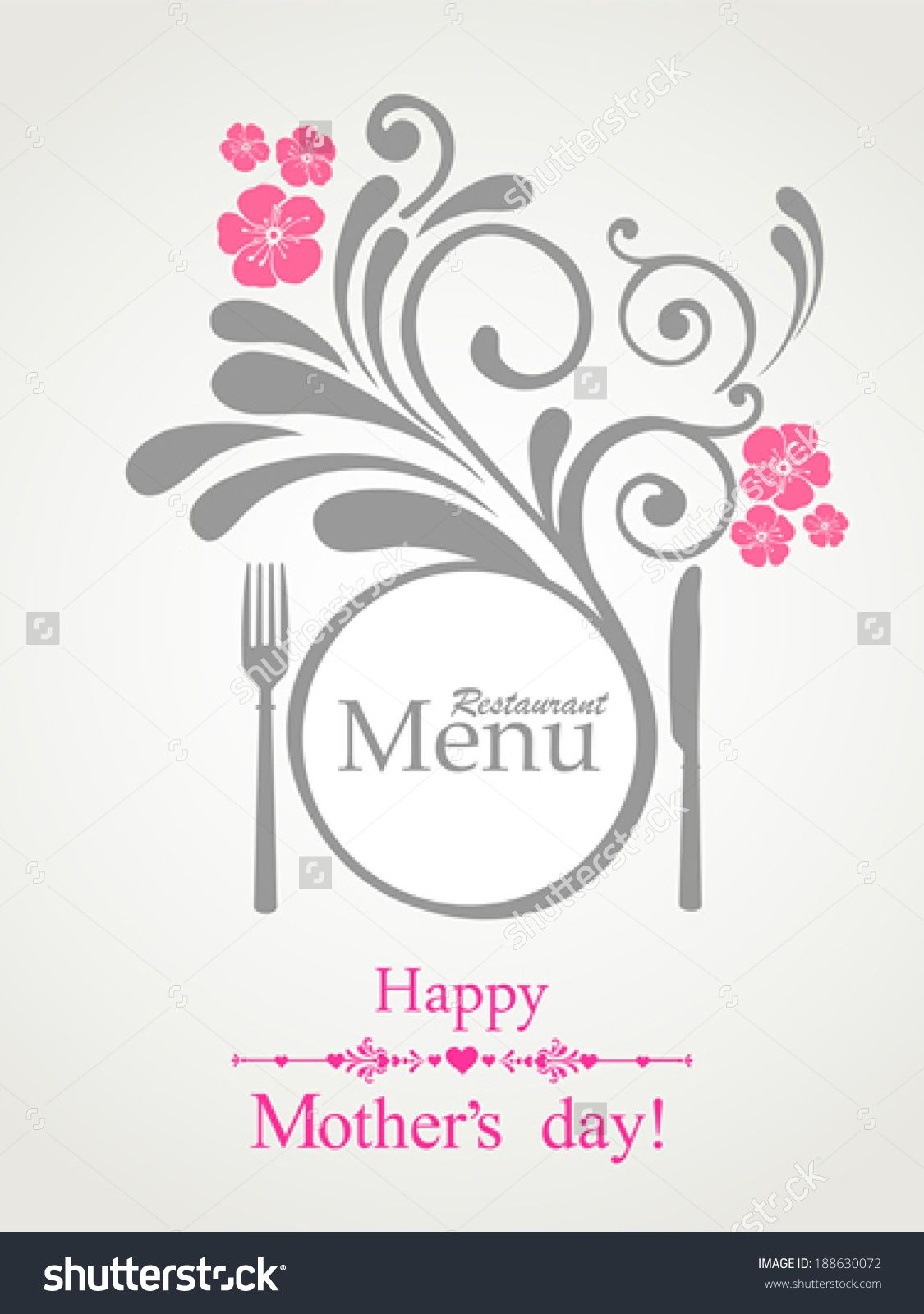 Happy MotherS Day Restaurant Menu Card Design Menu Template On