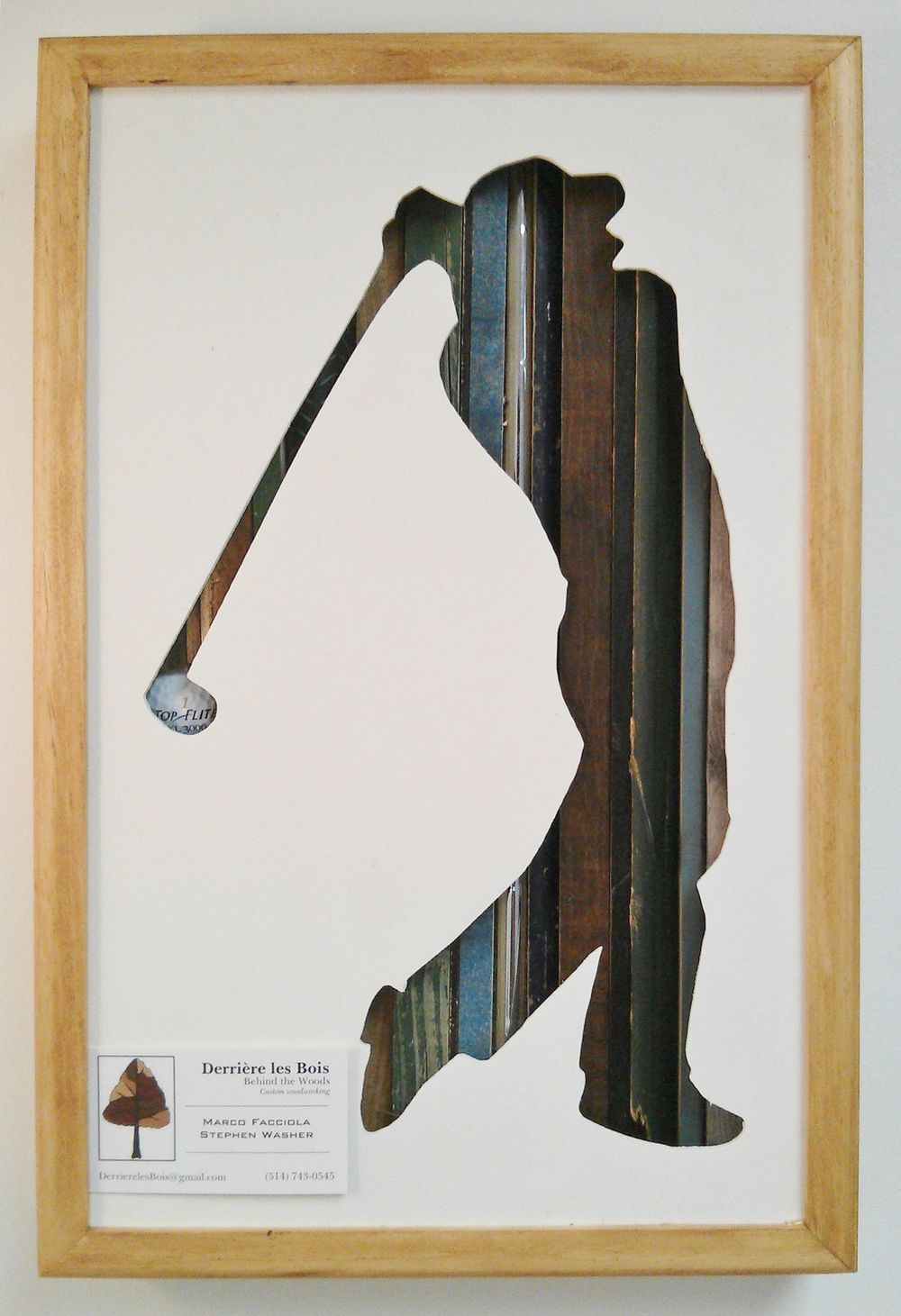 Golfer Wood Art Silhouette With Scrap Wood 17 By 11 Ttb