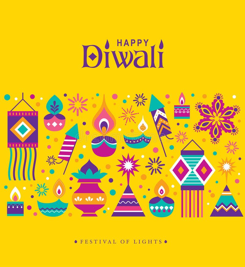 Happy Diwali stock vector. Illustration of fireworks - 96436904