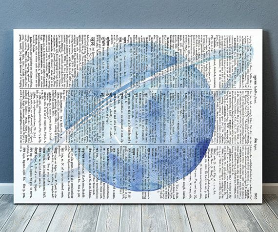 Gorgeous Dictionary poster for your home and office. Amazing Space decor. Adorable Watercolor print. Pretty modern Planet print.    SIZES: A4 (8.3