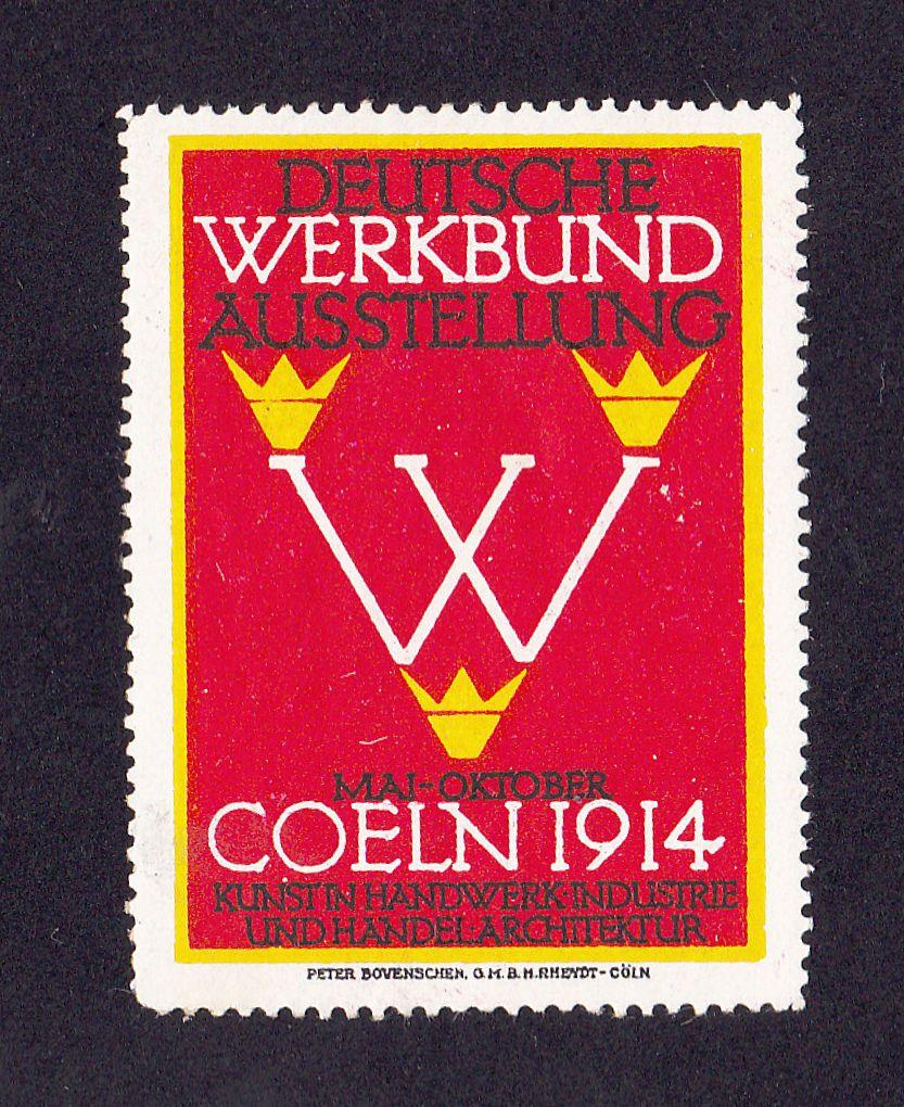 Original Poster Stamp Deutscher Werkbund Koln 1914 Behrens Taut Gropius Bauhaus   eBay