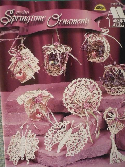 Annie\'s Attic Crochet SPRINGTIME ORNAMENTS Patterns #AnniesAttic ...