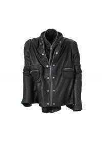 I like this strange leather jacket from Barbara I Gongini