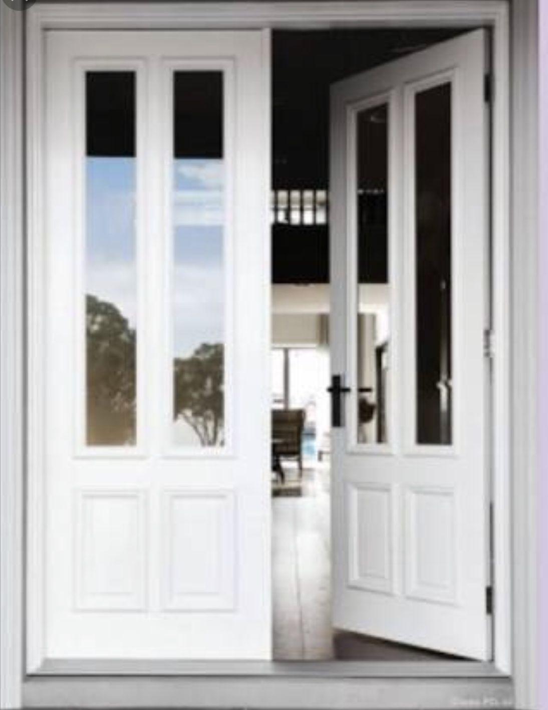 Door 1 Style With Black Handle Hamptons House Exterior Front Entry Doors Front Door In 2020 Hamptons House Exterior Front Entry Doors Front Door