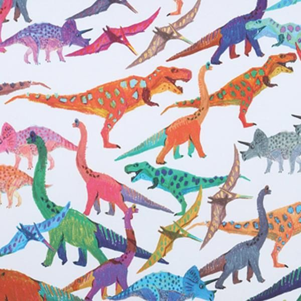 Dinosaur print kids flat and fitted sheets #dinosaurillustration