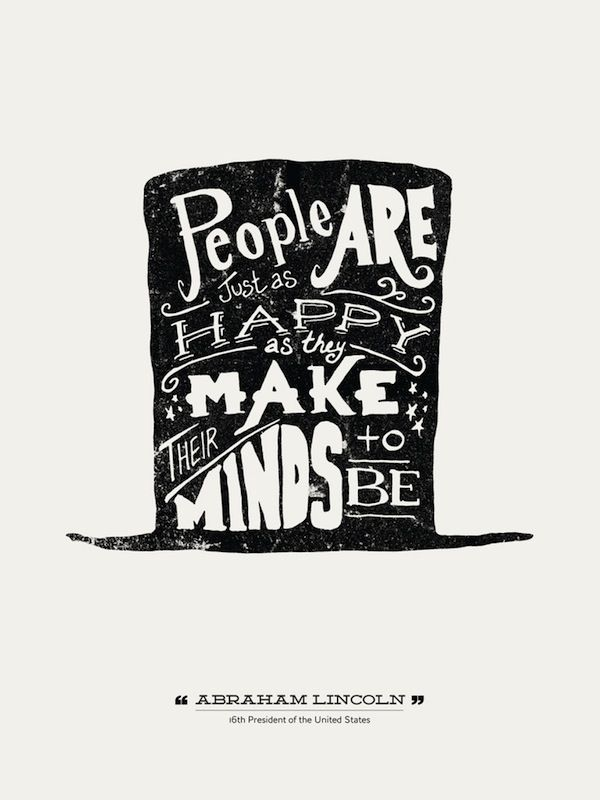 Hand-Lettered Typographic Posters Of Quotes From Famous People ...