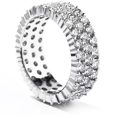 Right Hand Ring, Triple Row Eternity Band
