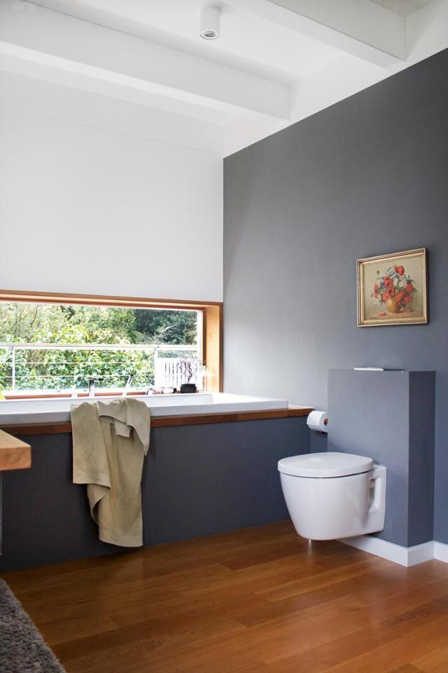 1 Blick ins #Badezimmer #weiß #grau# Eichenholz #Bad... | Pinterest ...
