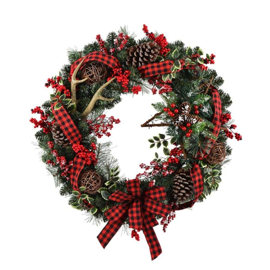 Holiday Living 30 In Pre Lit Battery Operated Vine Artificial Christmas Wreath With White Warm Led Lights Lowes Com Artificial Christmas Wreaths Christmas Wreaths Battery Operated Christmas Wreath Pre lit battery operated christmas wreath