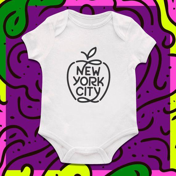 New York City Big Apple Bodysuit Girls Onesie Baby Clothing