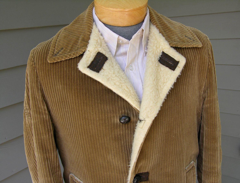 vintage 1960\'s Men\'s Car coat. Toffee colored alternating wale ...