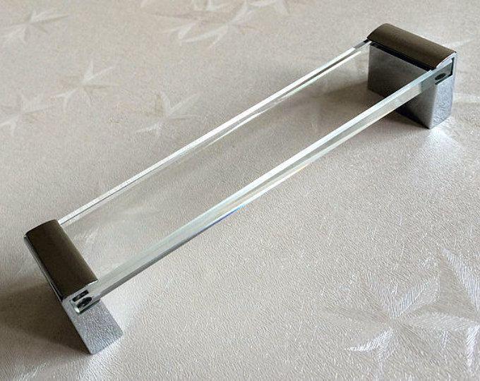 6 3 Large Acrylic Dresser Pulls Drawer Pull Handles