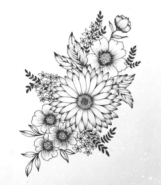 Roses Daisy Flower Clock Tattoo Design Laurence Veilleux Tattoo Artist Flow Diytattoo Clock Tattoo Design Floral Tattoo Design Tattoos