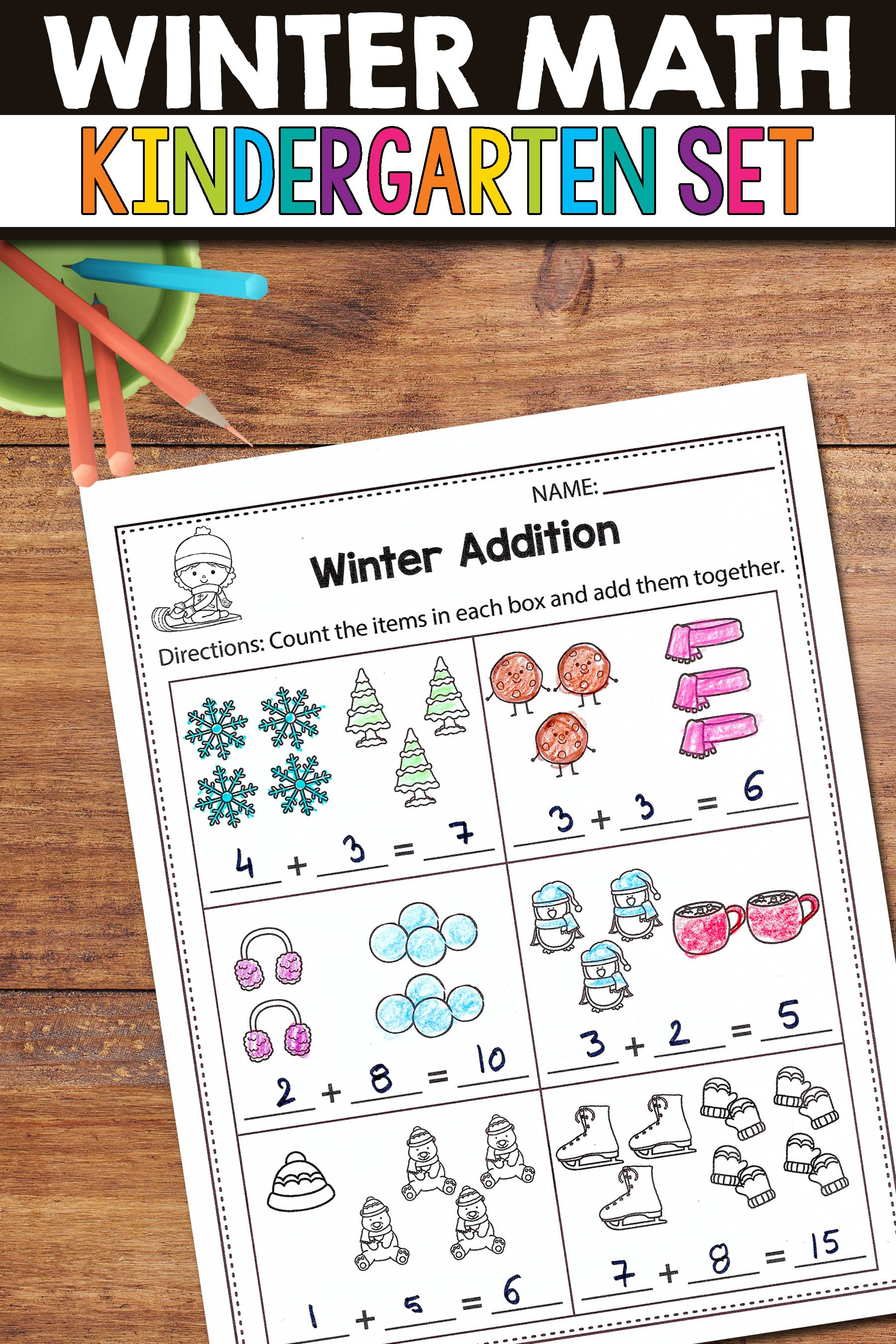 Kindergarten Early Finisher Task Cards January Word Work
