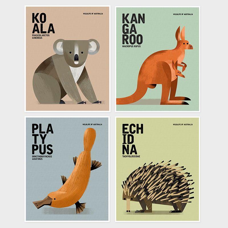 Educational Australian Wildlife prints for your little