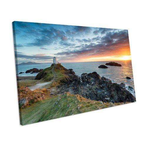 Mercury Row Leinwandbild Sunset Anglesey North Wales Landscape | Wayfair.de
