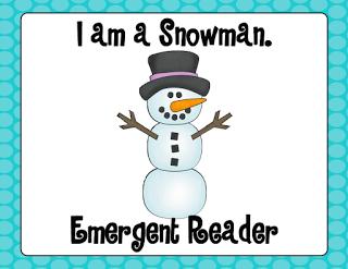 Kroger's Kindergarten: I Am a Snowman Emergent Reader (Free Printable) 2 books per download
