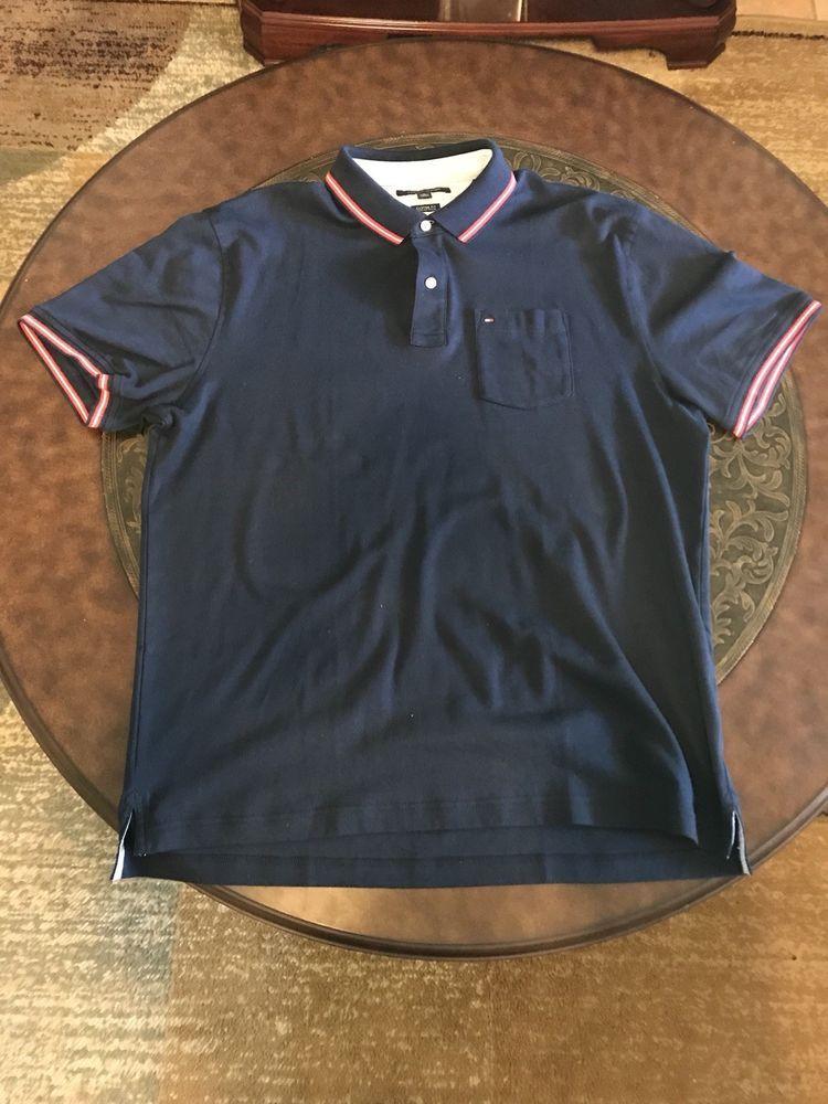 Tommy Hilfiger Mens Polo Shirt Custom Fit Mesh Short Sleeve Flag Logo  Graphic  fashion  clothing  shoes  accessories  mensclothing  shirts (ebay  link) 433d5ca0cac