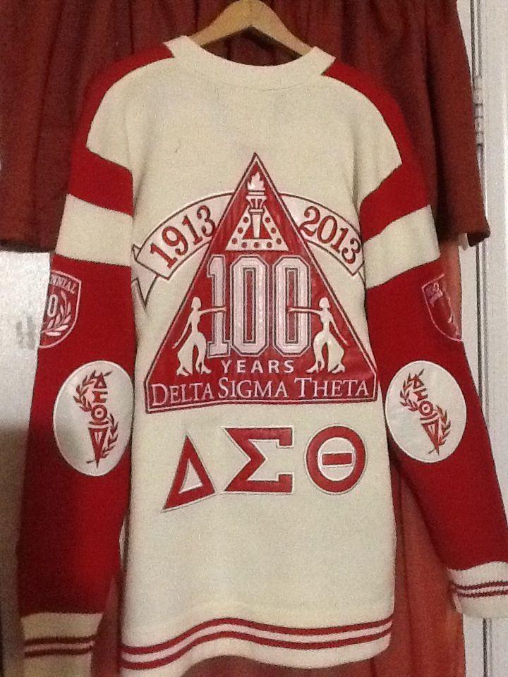 Centennial celebration sweater delta sigma theta inc 1913 - Delta sigma theta sorority cardigans ...