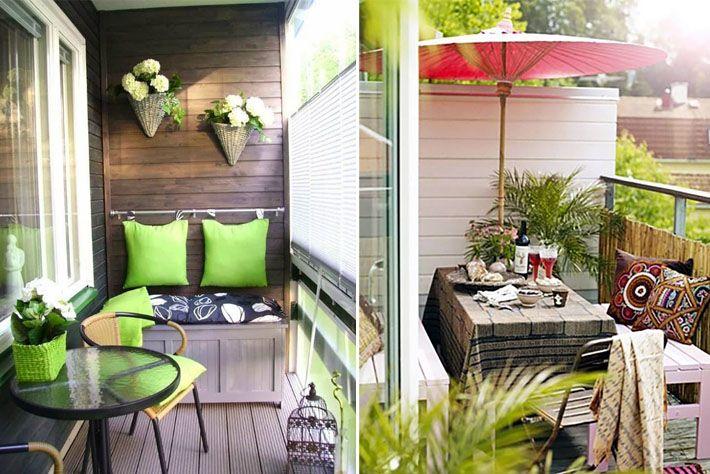 Como decorar varandas e sacadas pequenas varandas - Como decorar habitaciones pequenas ...
