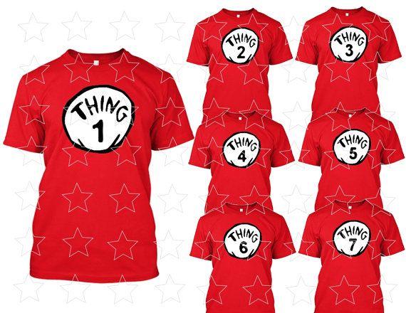 Thing 1 Thing 2 3 4 5 6 7 Dr Seuss T Shirt Dr Seuss By Tiptop777