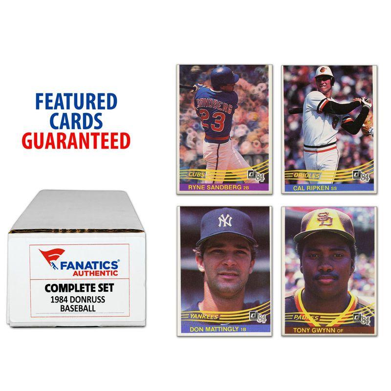 1984 Donruss Baseball Complete Set Of 660 Cards